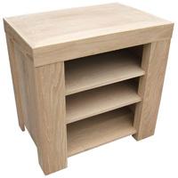Small Oak Media Cabinet